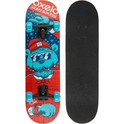 Skateboard PLAY120 BEAR voor kinderen blauw