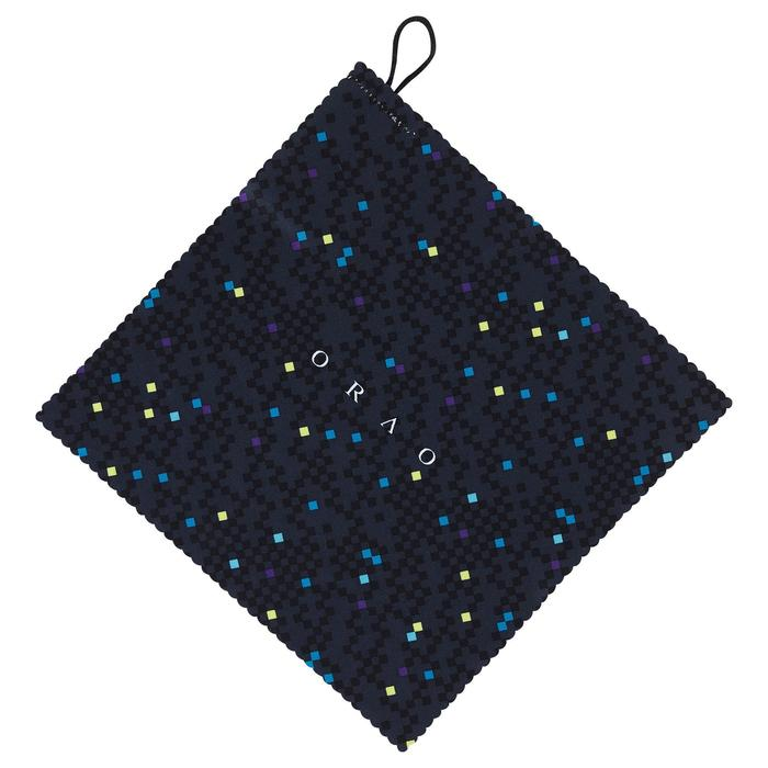 Microvezel brillendoekje CLEAN 100 Soft donkergrijs en geel