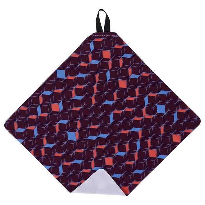 Lingette de nettoyage microfibre CLEAN 100 violet foncé - 1134102