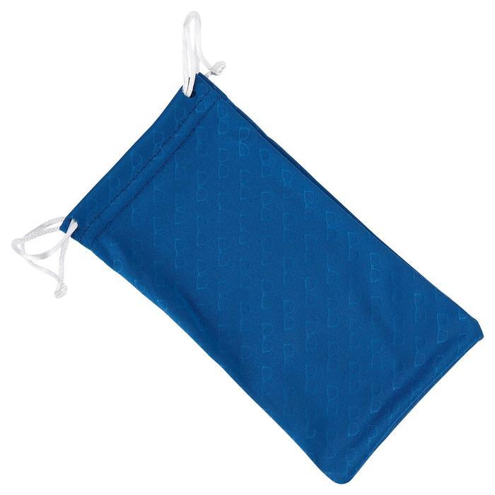 Brillenetui Mikrofaser-Brillenputztuch Case 120 blau