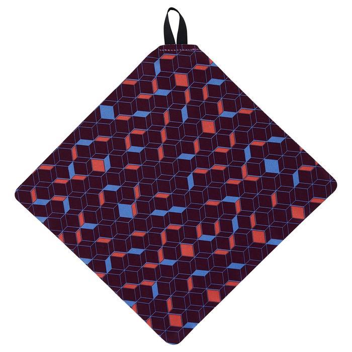 Brillenputztuch Clean 100 Purple Mikrofaser dunkelviolett
