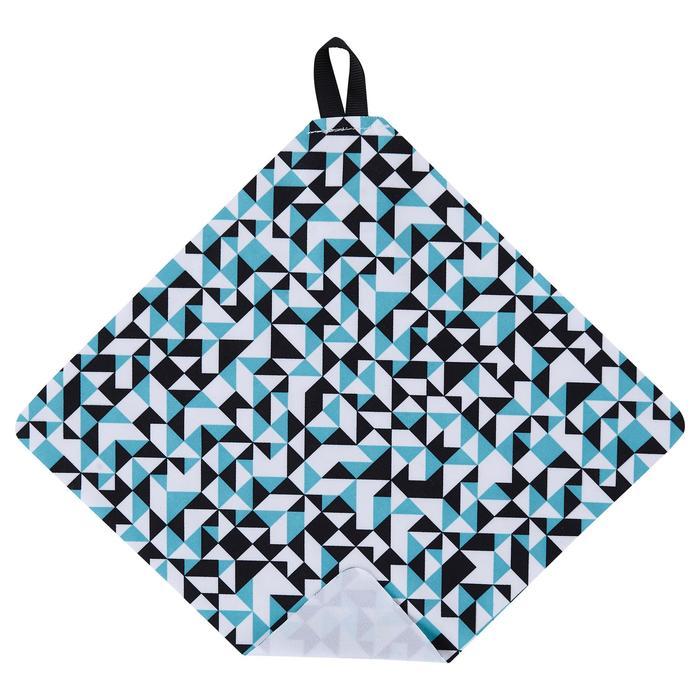 Mikrofasertuch Clean 100 blau/schwarz/weiß