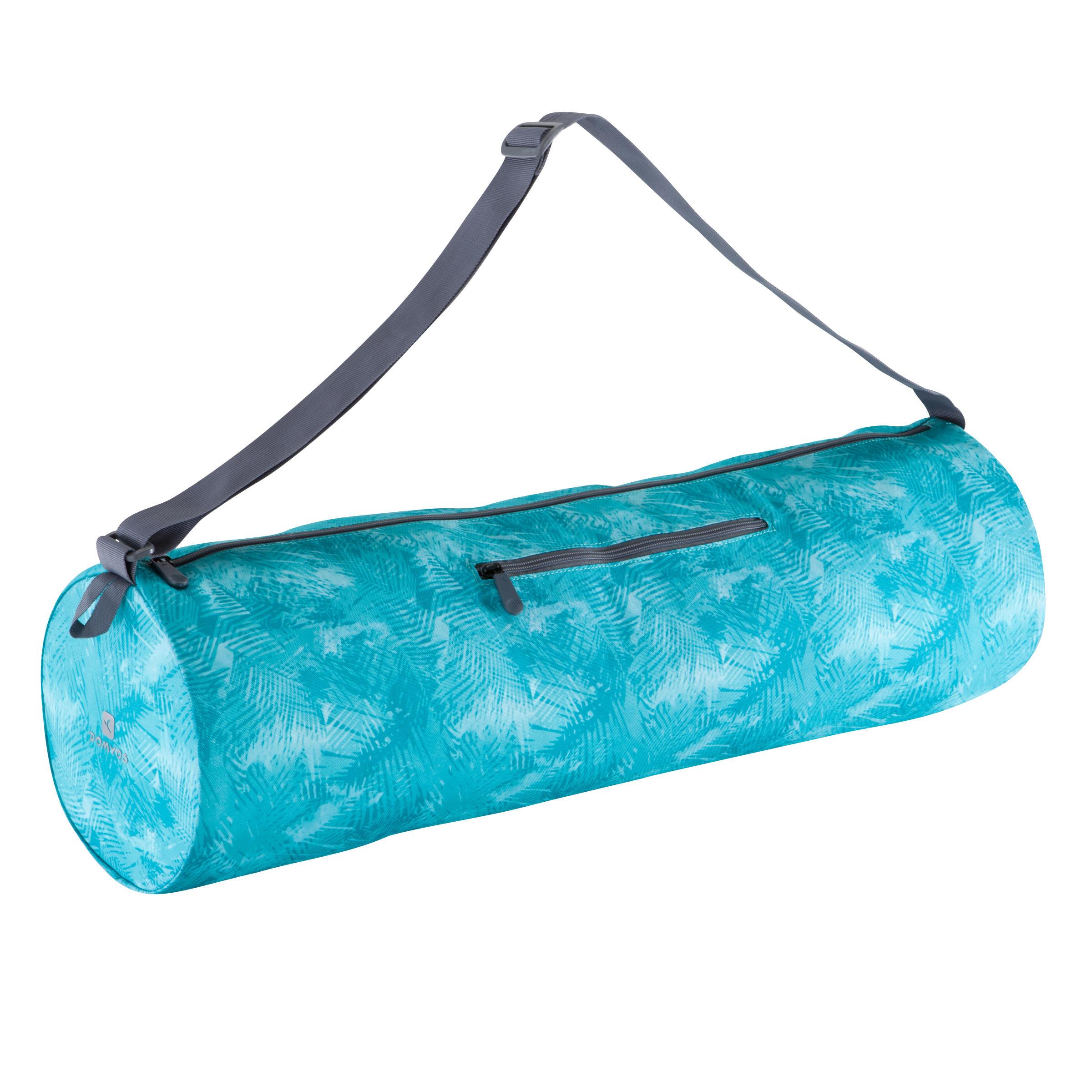 Tas yogamat blauw print