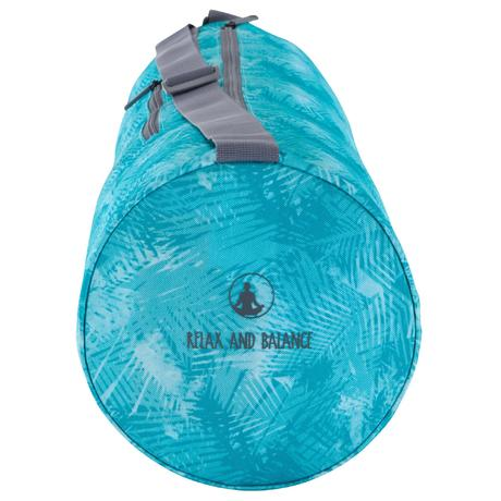 Yoga Mat Bag Blue Print Domyos By Decathlon