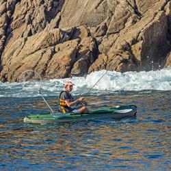 Hengelkajak Bilbao Fishing groen 1 persoon + RUGSTEUN - 1134205
