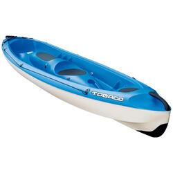 Kayak Canoa Rígido Bic Kayaks 3 Plazas (2 Adultos + 1 Niño) Azul Piragüismo