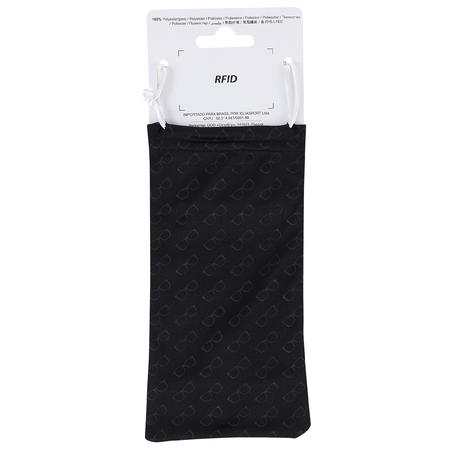 Microfibre fabric cleaning bag for glasses 120 MH ACC - black