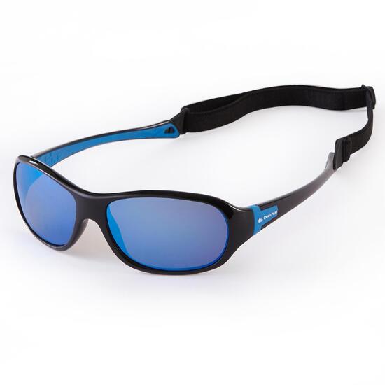 Zonnebril Teen 500 voor trekking, kinderen 7-10 jaar, blauw polariserend, cat. 3 - 1134314