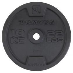Gietijzeren schijf voor krachttraining 28 mm - 1134381