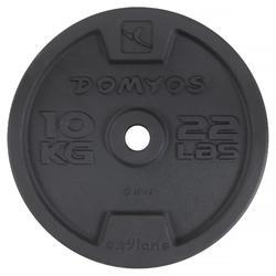 Disco de fundición musculación Domyos 28 mm