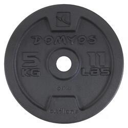Gietijzeren schijf voor krachttraining 28 mm - 1134388
