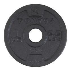 Gietijzeren schijf voor krachttraining 28 mm - 1134411