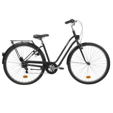 elops 300 city bike black town bikes. Black Bedroom Furniture Sets. Home Design Ideas