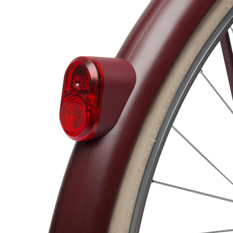 Elops Rear Dynamo Bike Light - Burgundy