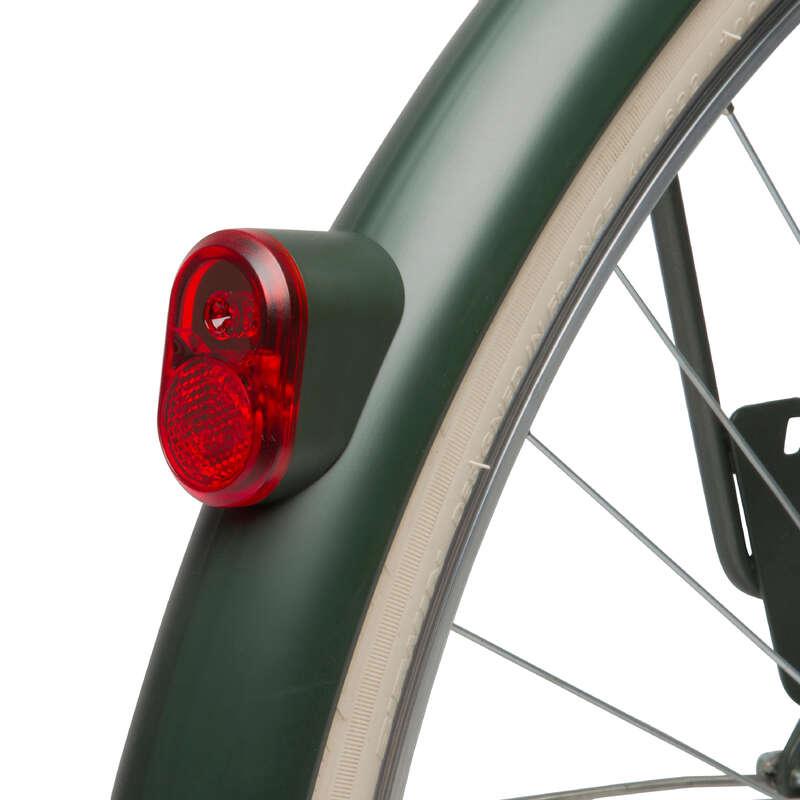 Kiegészítő alkatrészek Kerékpározás - Hátsó dinamós lámpa, khaki WORKSHOP - Kerékpár kiegészítők