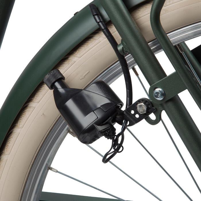 "City Bike 28"" Elops 520 HF hoher Rahmen khaki"