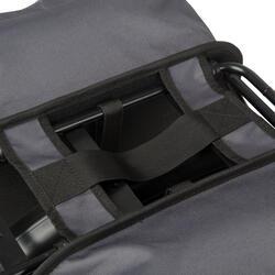 Doppel-Fahrradtasche Gepäcktasche 100 2×15 Liter grau/schwarz