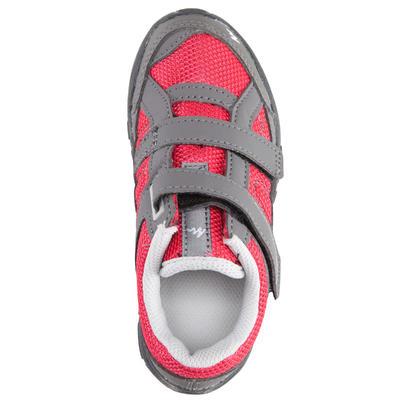 Tenis de excursionismo para niños Arpenaz 50 velcro rosado