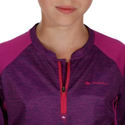 T-Shirt de randonnée fille Hike 900 violet
