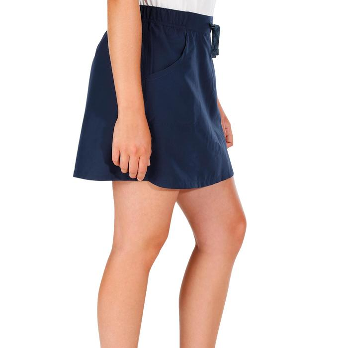 Falda-short senderismo en la naturaleza mujer NH100 azul marino
