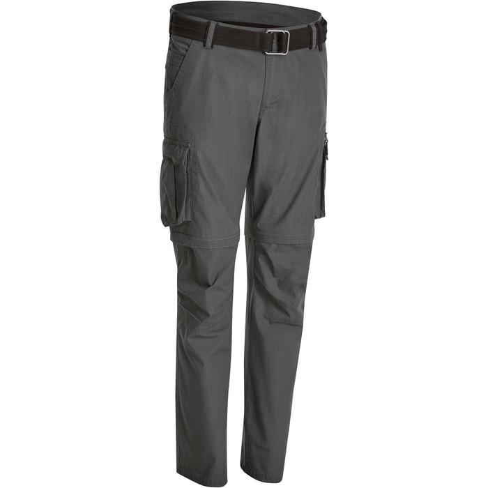 Pantalón transformable TRAVEL 100 HOMBRE GRIS CLARO