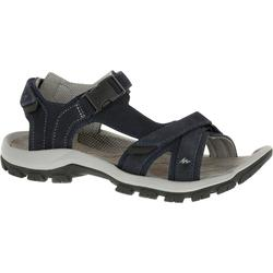 LEATHER HIKING SANDALS - NH120 - NAVY BLUE - MEN