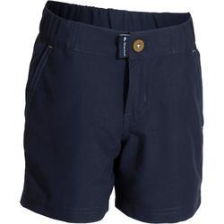 男童健行短褲 Hike 100-藍色