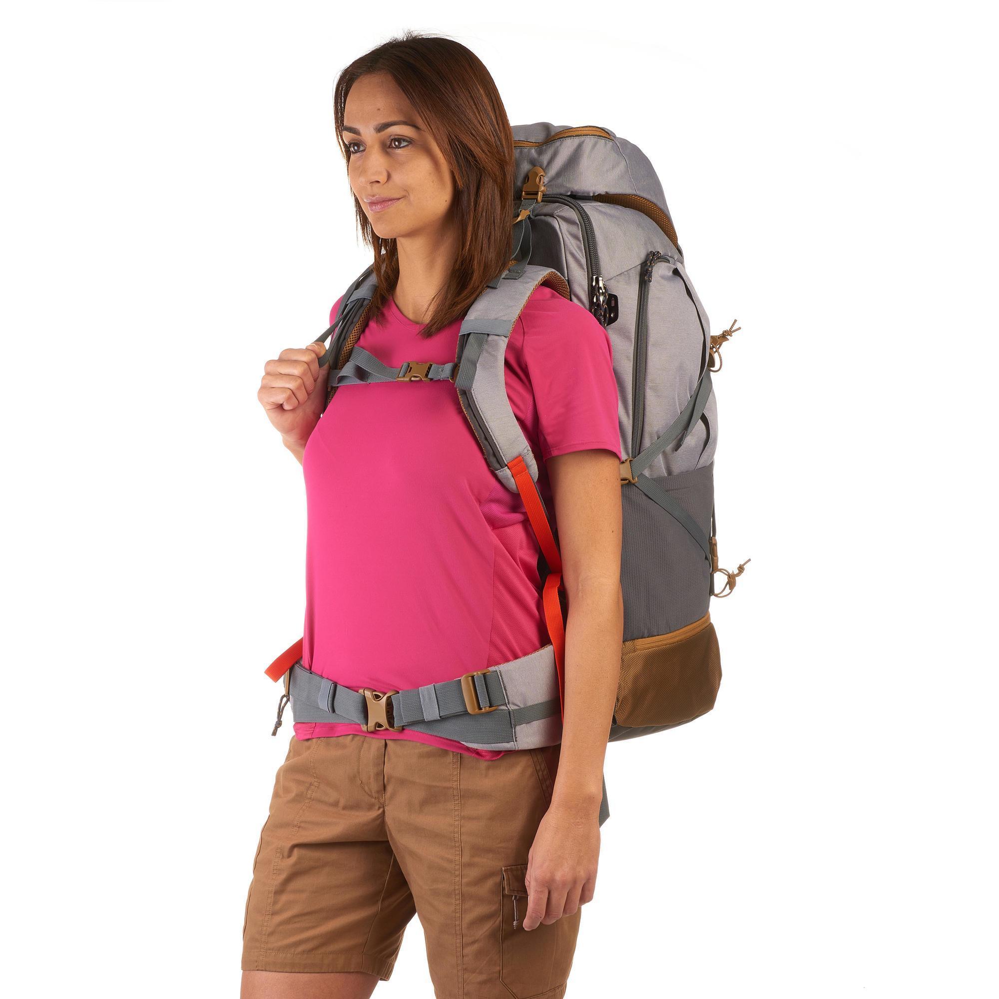 Apta Candado Mujer Mochila 70 Gris Travel Trekking 500 Litros Para qx8YR 9d09c3a9a6e
