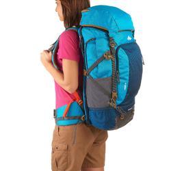 Mochila de Montaña y Trekking Forclaz Travel500 50 Litros Mujer Azul