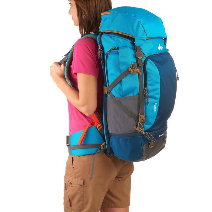 Sac à dos Trekking TRAVEL 500 Femme 50 litres cadenassable bleu - 1135951