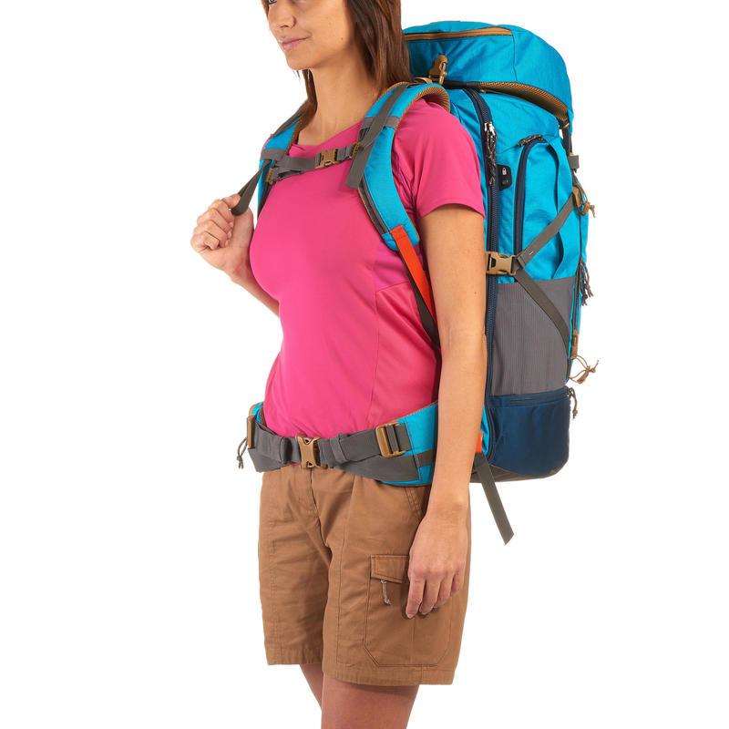 WOMEN'S 50L TREKKING & TRAVEL BACKPACK - TRAVEL 500