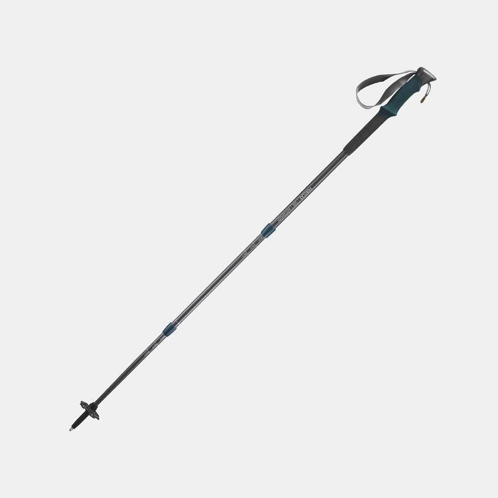 1 bâton de Randonnée forclaz 500 Antishock gris bleu - 1135975
