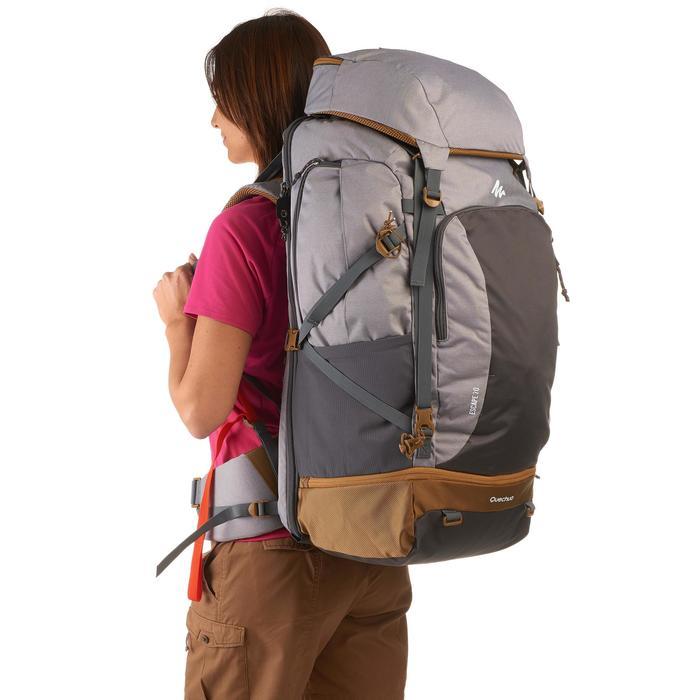 Sac à dos Trekking Travel 500 Femme 70 litres cadenassable gris - 1135976