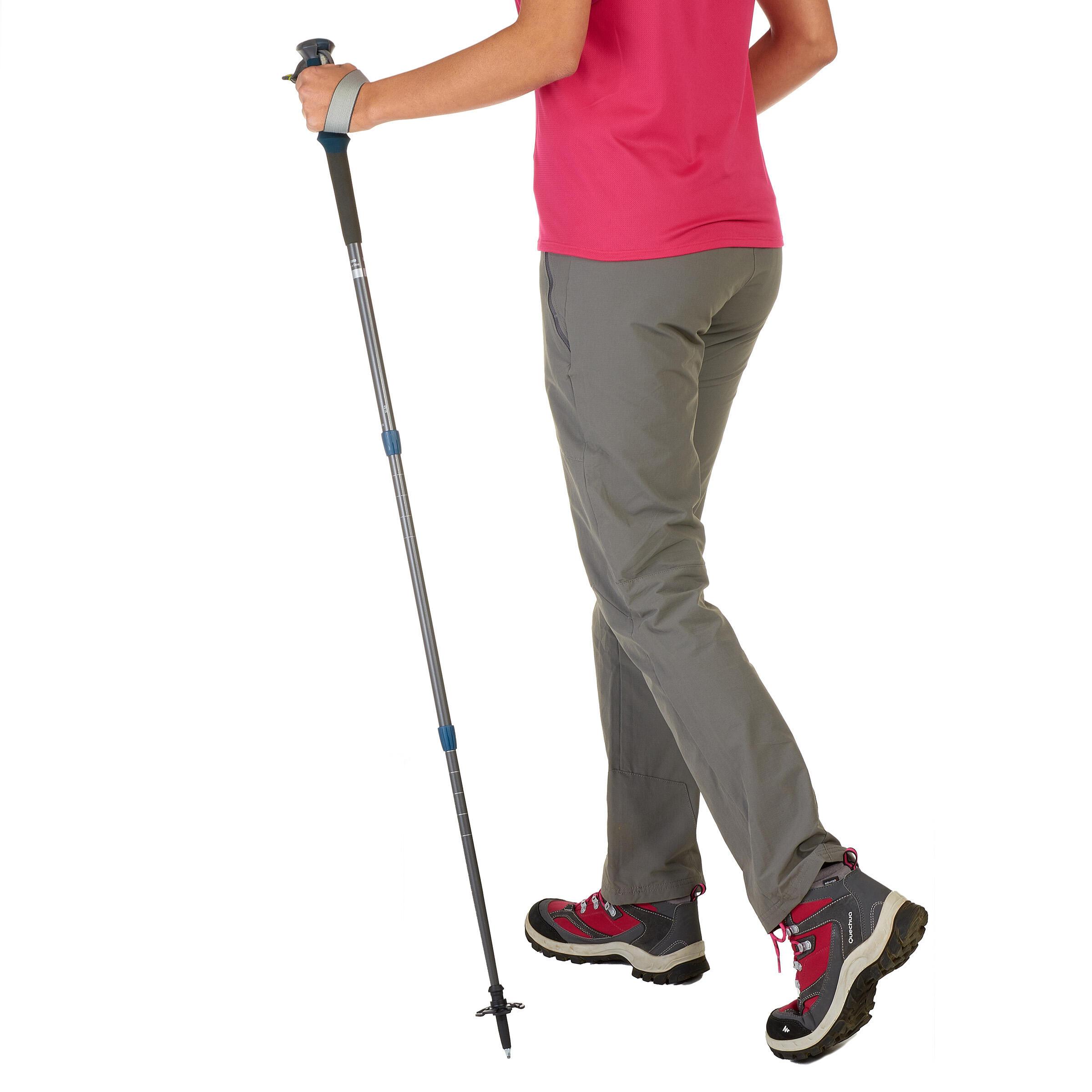 1 x Forclaz 500 Antishock Hiking Pole - Grey/Blue