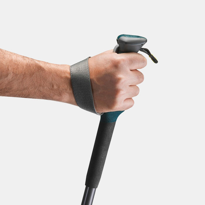 1 bâton de Randonnée forclaz 500 Antishock gris bleu