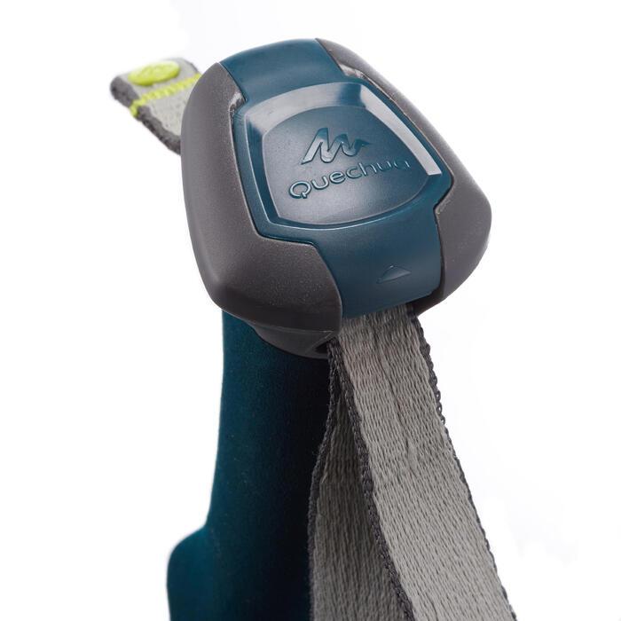 1 wandelstok Forclaz 500 antishock grijs/blauw