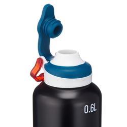 500 Aluminium Hiking Flask With Quick-Open Cap - 0.6 Litre, Black
