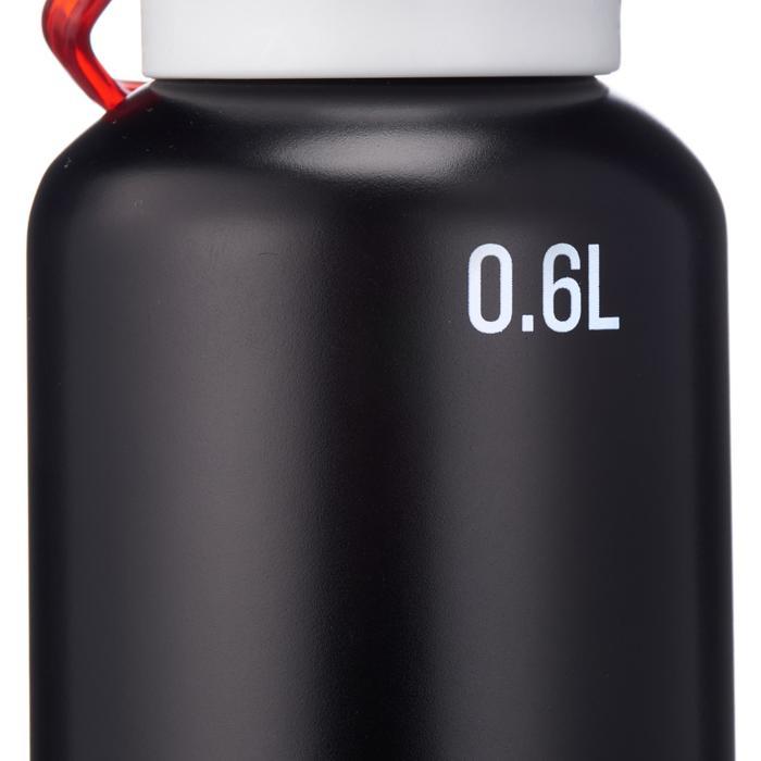 Gourde randonnée 500 bouchon ouverture rapide 0,6 litre aluminium noir - 1136091