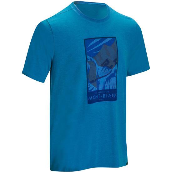 Wandel T-shirt met korte mouwen voor heren Techtil 100 gemêleerd - 1136159