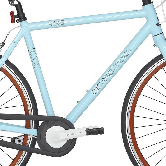 "City Bike 28"" City Speed 500 Nexus 3 mint/braun"