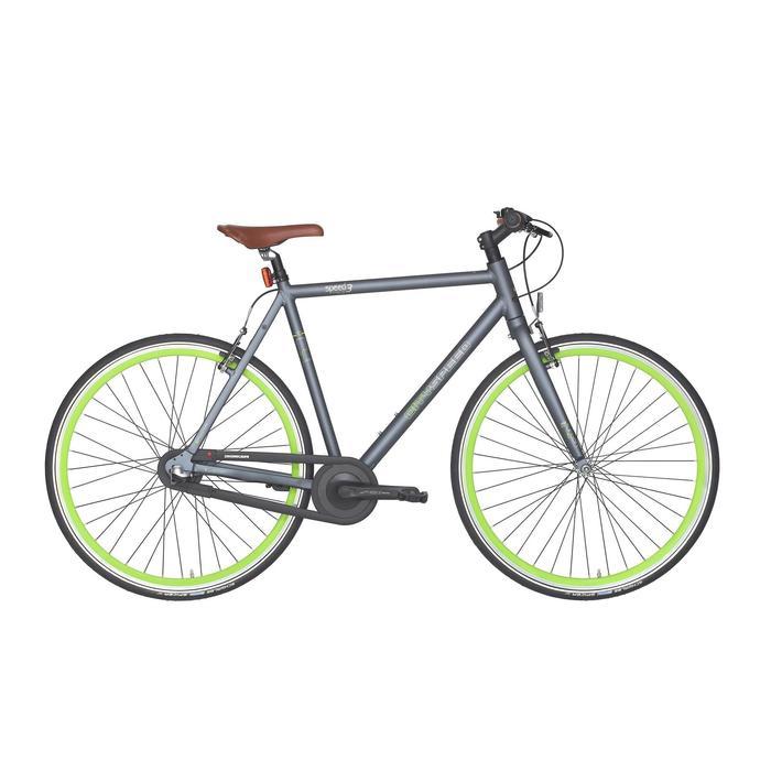 "City-Bike 28"" City Speed 500 Nexus 3 mattgrau/neongrün"