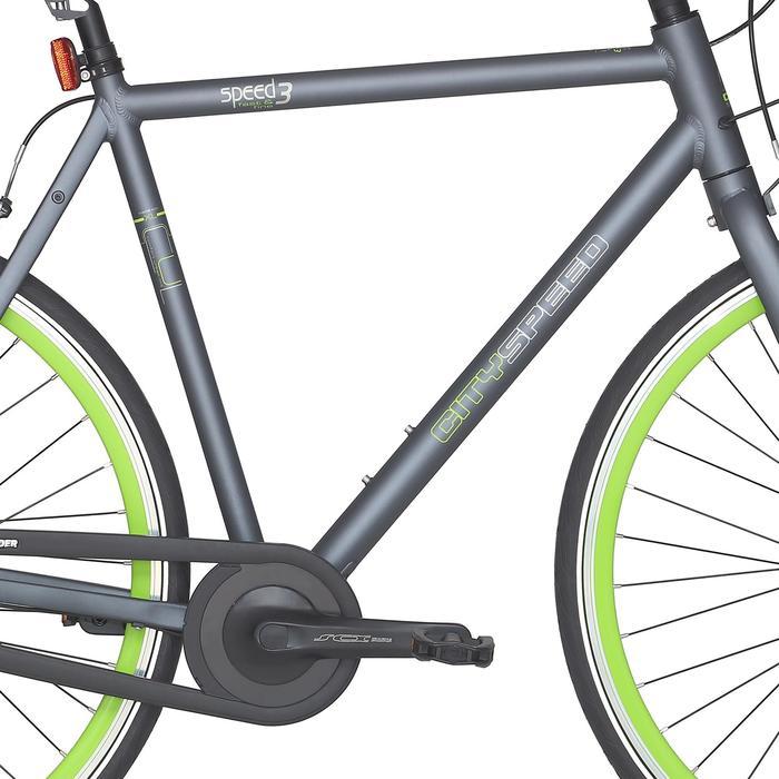 "City Bike 28"" City Speed 500 Nexus 3 mattgrau/neongrün"