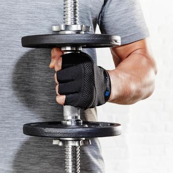 Barre haltère musculation filetée 35 cm 28 mm - 1136364