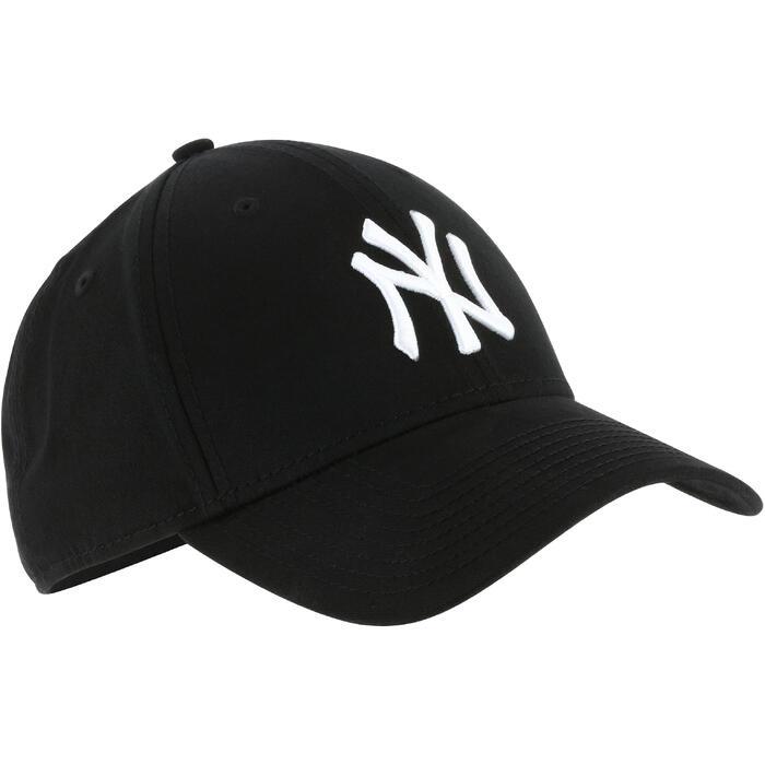 Baseballpet voor volwassenen New York Yankees zwart