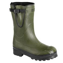 Laarzen Toundra 500 groen rubber met uitneembare binnenlaars