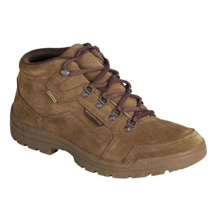 Chaussure chasse light 500 imperméable marron - 1136552