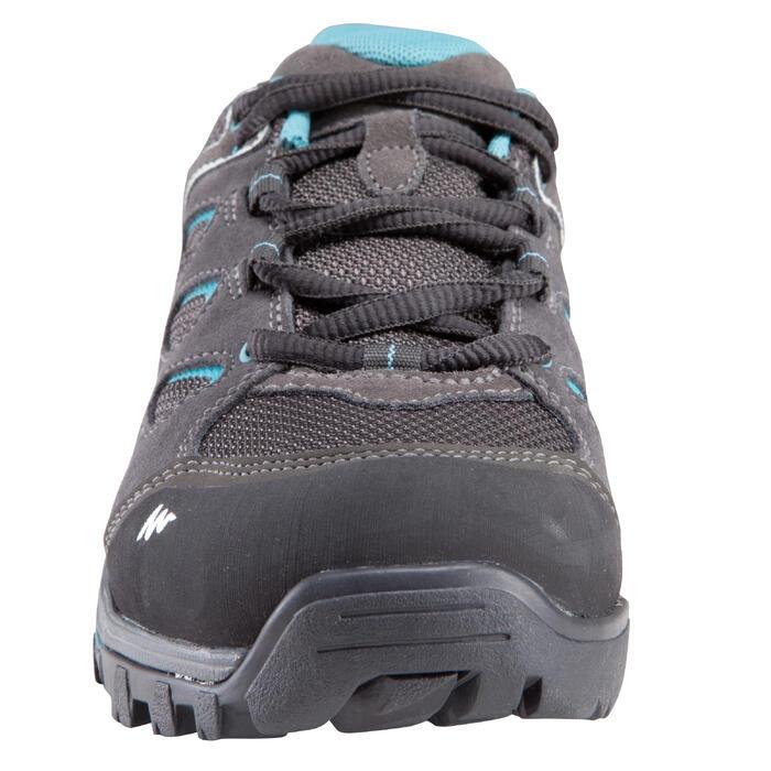 Zapatillas de travesía montaña mujer Forclaz Flex 3 impermeables gris azul