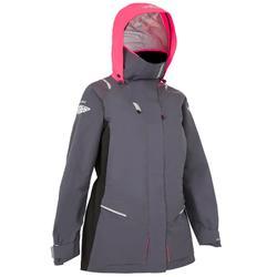 500 Women's Waterproof Sailing Jacket - Grey