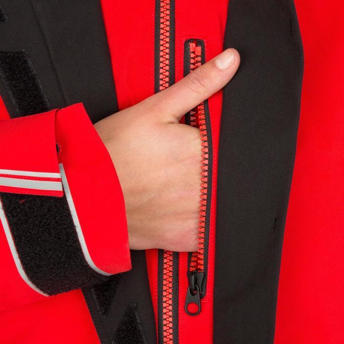 Chaqueta impermeable de vela mujer 500 rojo