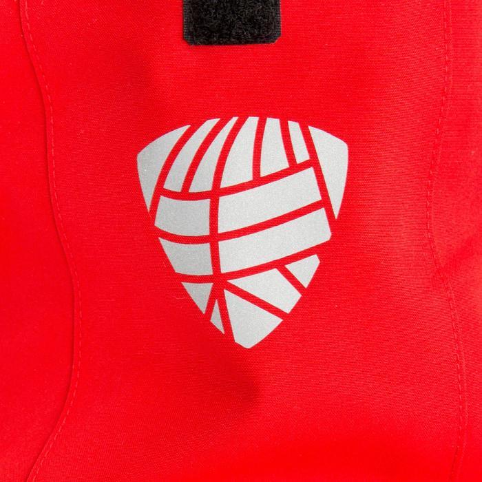 Chaqueta Cortaviento Impermeable Barco Vela Tribord 500 Mujer Roja Capucha